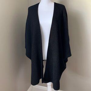 NWT - Black Cardigan/Poncho Sweater